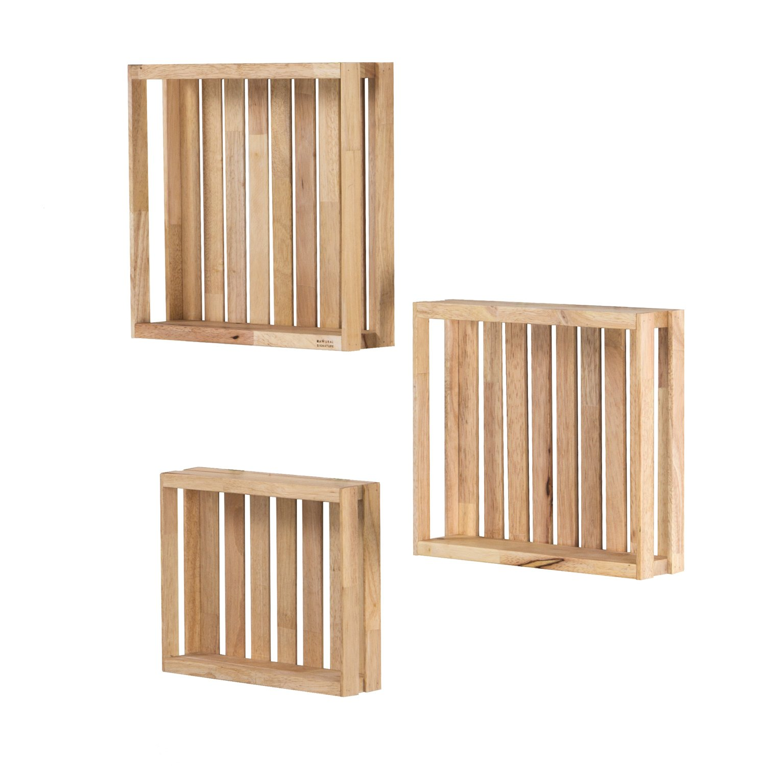 Solid Wood Grids Storage Boxes ...